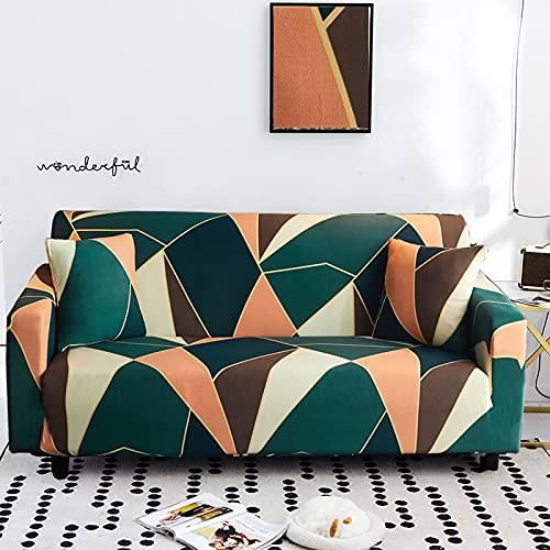 PPOS Stretch Sofabezug Schonbezüge Elastischer All-Inclusive-Couch-Koffer für Verschiedene Formen Sofa Loveseat-Stuhl L-Stil Sofa-Koffer A10 3 Sitze 190-230cm-1Stk