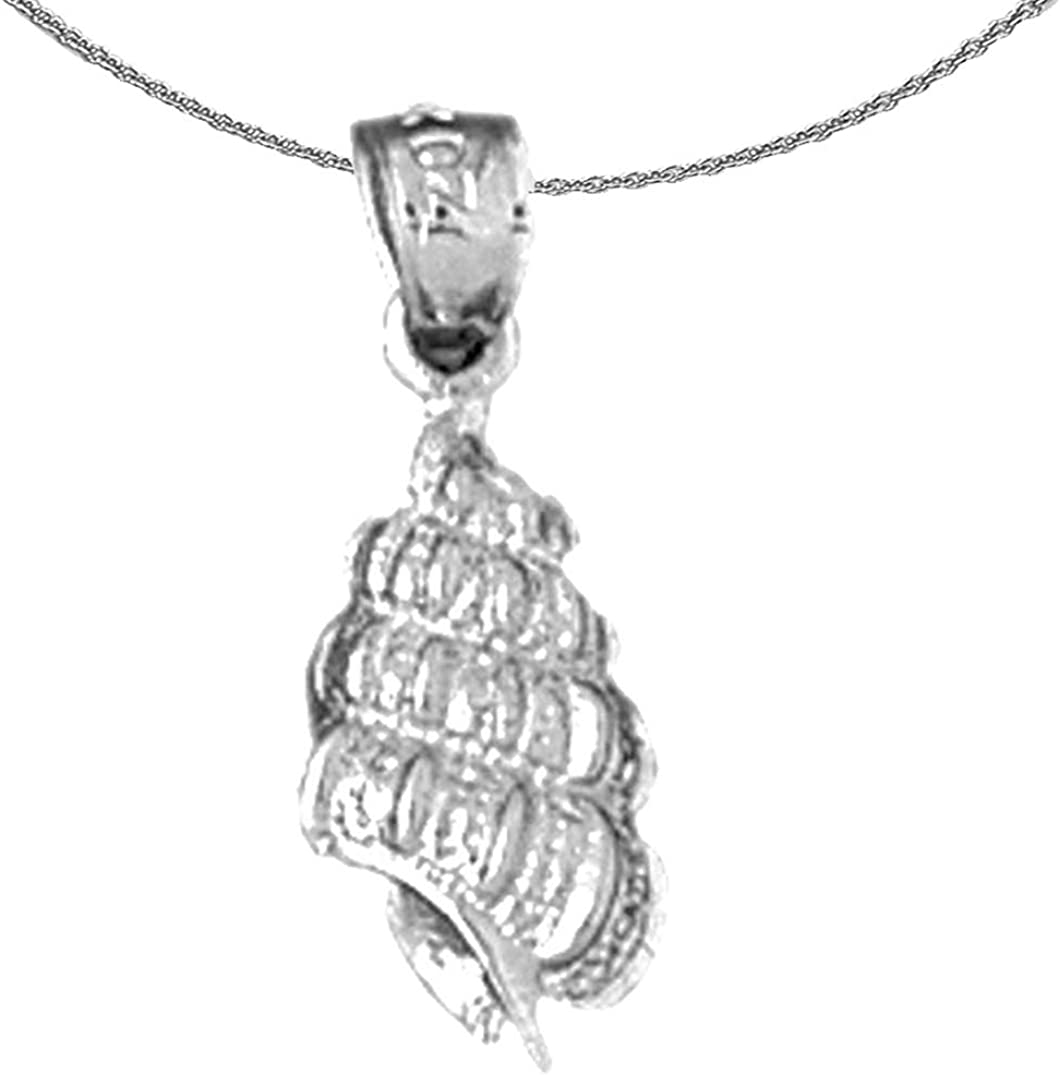 Jewels Obsession Silver Conch Luxury goods Necklace 92 Rhodium-plated Shell New Shipping Free Shipping