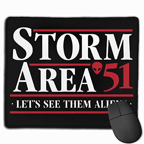 Mausmatte,Spiel Maus Pad,Mausunterlage,Gaming Mauspad,Storm Area 51 - Lassen Sie Uns Sehen, Sie Aliens Mat Mäuse Mauspad Für Office Home Laptop Computer Pc