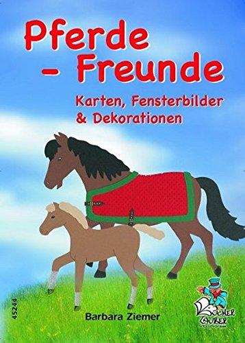 Pferde-Freunde - Karten, Fensterbilder & Dekorationen