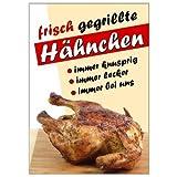 net-xpress Werbeplakat Grillhähnchen DIN A1, Plakat Poster