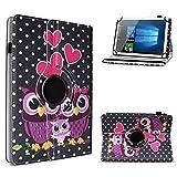 UC-Express Robuste Tablet Schutzhülle kompatibel für ASUS ZenPad 8.0 Z380M aus hochwertigem Kunstleder Hülle Tasche Standfunktion 360° Drehbar Cover Hülle Universal, Farben:Motiv 4