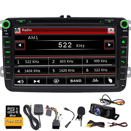 Double DIN GPS de voiture stéréo numérique 20,3 cm DVD de voiture dans Dash USB/SD FM AM RDS Autoradio BT Autoradio pour VW Golf 5 6 Polo Jetta Touran EOS Passat CC Tiguan Sharan Scirocco Caddy
