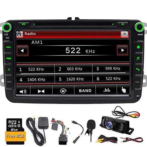 Doppio DIN GPS Car stereo 20,3cm touchscreen digitale conautoradio in dash USB/SD FM AM RDS autoradio BT Headunit per VW Golf 56polo Touran EOS Jetta Passat CC Tiguan Sharan Scirocco Caddy