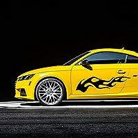 ストライプデカール 2 個ユニバーサルカースタイリングステッカー自動両側ボディパーソナライズされたクリエイティブ火災ステッカービニールデカール 170 センチメートル × 40 センチメートル