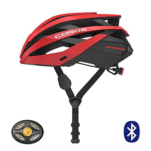 Coros Omni Smart bicicleta casco con auriculares Bone Conductive & luz LED trasera | verknüpfe mediante Bluetooth para música, llamadas y navegación | Cómoda, fácil