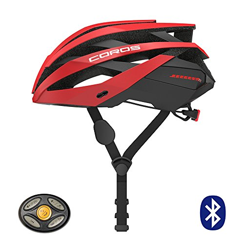 Coros Omni Smart Cycling Helmet w/Bone Conduction Audio, LED Tail Lights, SOS Alert Removable Visor | Adjustable Sizing | Connects via Bluetooth Music, Calls Navigation