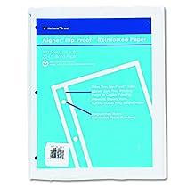 Rip Proof 20-lb, Reinforced Filler Paper, Unruled, 11 x 8-1/2, WE, 100 Sheets/Pk (並行輸入品)