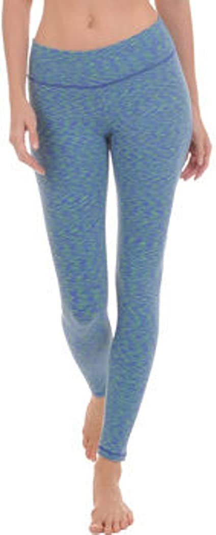 Danskin Space Dyed Wave Ankle Legging - 4613 (Small, Kelly Green/Royal)