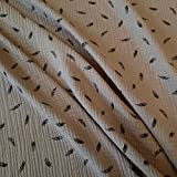 Meterware Stoff Baumwolle Musselin Taupe grau beige schwarz