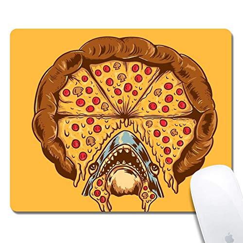 Tappetino per mouse ergonomico esteso Shark Pizza, rettangolo in gomma 250X300X3mm Tappetino per mouse Shark Pizza