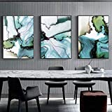 RomantiassLu Moderne Aquarell Leinwand, Malerei Marmor