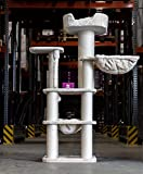 Petrebels Arbre à chat design pour grands chats - Panorama - 172 cm - Beige - Arbre à chat pour Maine Coon et Ragdoll - Avec corde de jeu en sisal - Hamac XXL et canapé XXL