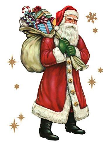 dpr. Fensterbild Weihnachtsmann Nikolaus Sack Weihnachten Fenstersticker Fensterdeko Weihnachtsdeko