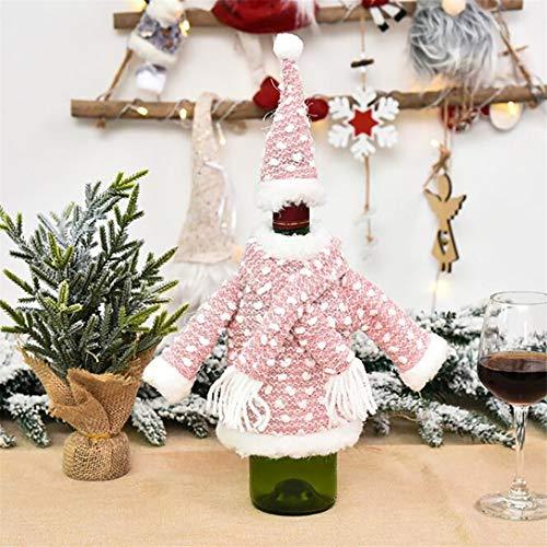 MAJFK - Funda para botella de vino, diseño de flores, color rosa