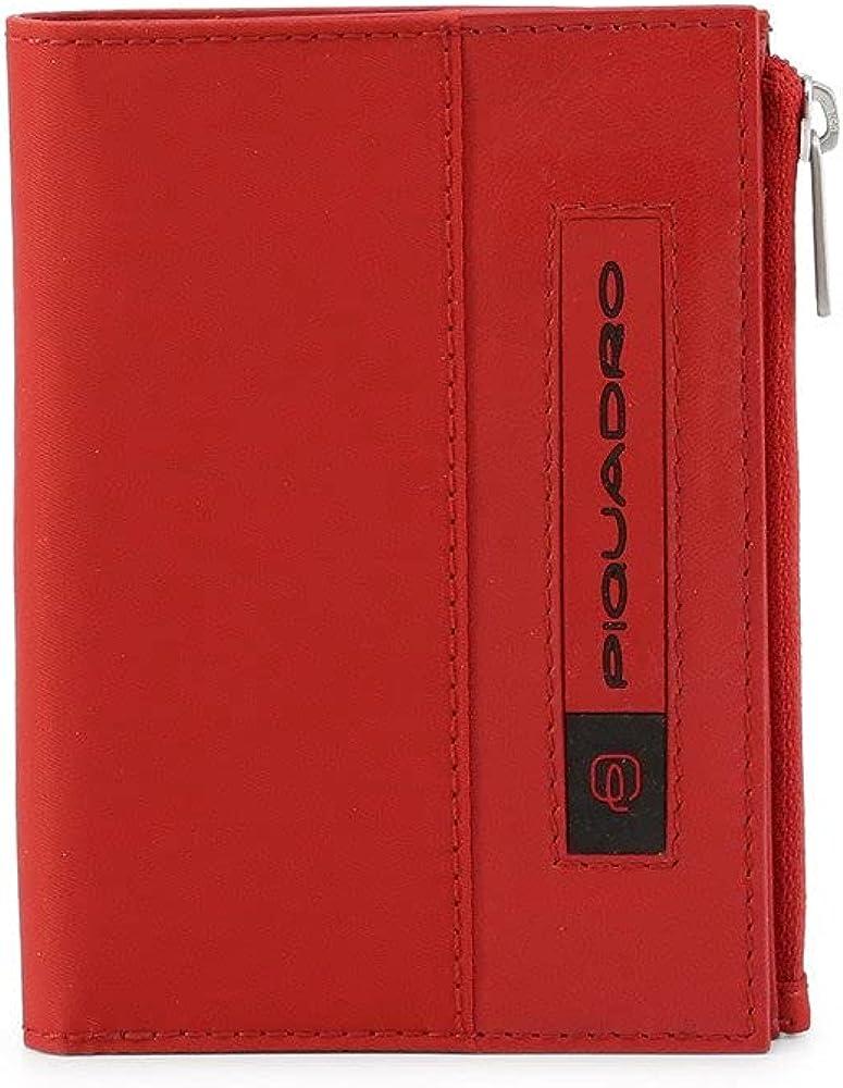 Piquadro portafoglio pieghevole porta carte di credito per uomo PU4462BIO/R