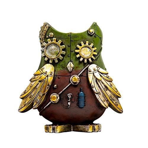 Hucha Banco de monedas Banco de dinero Caja de din Niños creativos Retro Mecánico Pájaro Piggy Bank Resina Gran Piggy Bank Moneda Piggy Bank Regalo Decorativo Regalos de cumpleaños de Navidad de acero