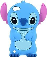 iPod Touch 7 Case, iPod Touch 6 Case, iPod Touch 5 Case, 3D Cute Cartoon Blue Alien Animal Teen Girls Women Kids Soft Rubber Silicone Shockproof Case Cover for iPod Touch 7th 6th 5th Generation (Blue)