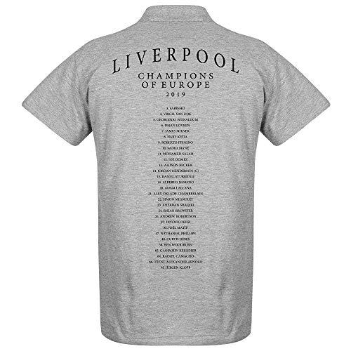 Liverpool Crest Europameister Mannschaft Polo Shirt - grau - S