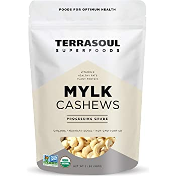 Terrasoul Superfoods Organic Raw Cashews (Mylk Grade), 2 Pounds