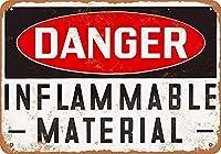 危険可燃性素材ブリキの看板壁の装飾金属ポスターレトロなプラーク警告看板オフィスカフェクラブバーの工芸品