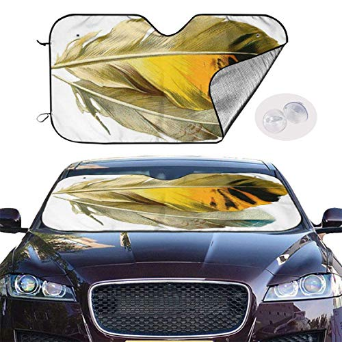 mchmcgm Cubierta para sombrilla Feather Auto Windwhield Sun Shades Universal Fit 51,2 x 27,6 Inch Window Keep Your Vehicle Cool Visor para SUV Sunshade Cover
