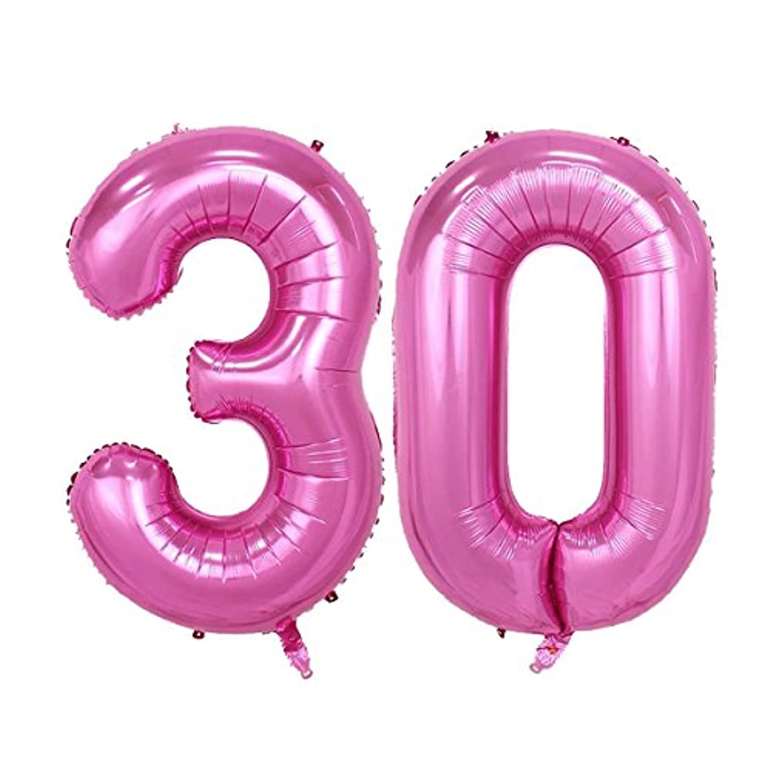 40inch Pink Number 30 Jumbo foil Helium Balloons for Bithday Party Festival Decorations Photo Props (pink 30)