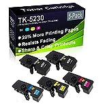 Paquete de 5 cartuchos de tóner láser compatibles Ecosys M5521CDN (alta capacidad) de repuesto para Kyocera TK5230 TK-5230 (TK-5230K TK-5230C TK-5230Y TK-5230M)