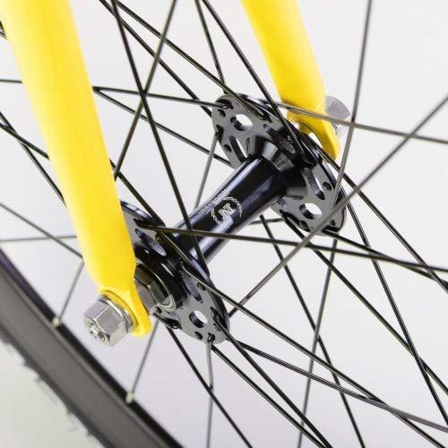 bonvelo Singlespeed Fixie Fahrrad Blizz Mellow Yellow (Large / 56cm für Körpergrößen von 170cm bis 181cm) - 5