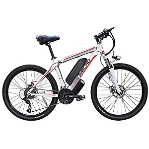 "Electric Bikes YYAO 26"" Electric Mountain Bike Removable Large Capacity Lithium-Ion Battery (48V 350W), Electric Bike 21 Speed Gear…"