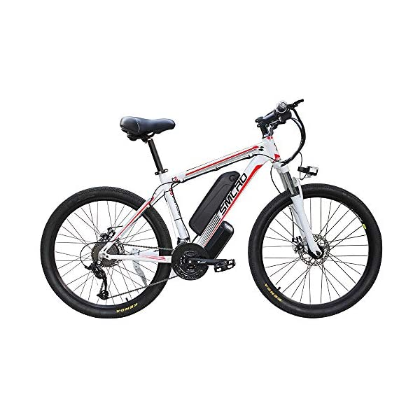 """Electric Bikes YYAO 26"""" Electric Mountain Bike Removable Large Capacity Lithium-Ion Battery (48V 350W), Electric Bike 21 Speed Gear…"""