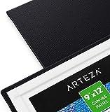 Arteza Malkarton, 22.9 x 30.5 cm, 14 Stück, schwarze Malpappe, grundierte Leinwand-Pappe 100% Baumwolle, für Malerei, Acrylfarben, Ölfarben & nasse Kunstmedien, Leinwände für Profis & Hobbymaler - 4