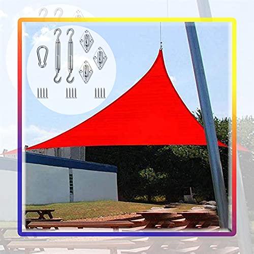 GAOYUY Toldo Vela De Sombra, con Kit De Fijación Paño De Sombra Triangular Resistente A Los Rayos UV Y A La Intemperie Toldo De La Glorieta del Toldo del Refugio De La Pantalla Protectora