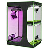 """KINGSO 2-in-1 Grow Tent 72"""" Plant Growing Tents Reflective Mylar Indoor Plants Hydroponics Growing System with Observation Window and Removable Floor Tray for Indoor Plant Growing (48'x36'x72')"""