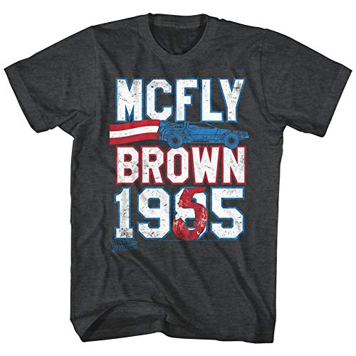 T-shirt Back To The Future- Mcfly Brown Ticket M - Noir