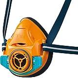 シゲマツ(重松製作所) TW (TwoWay) 取替え式防じんマスク・直結式小型防毒マスク TW01SC オレンジ Mサイズ 11941 (吸収缶・フィルター別売り)