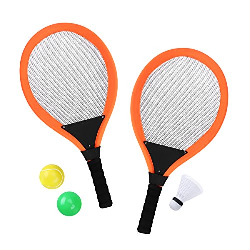 TOYMYTOY Kinder Badminton Set mit Tennisschläger und Ball Outdoor Garden Beach Spielzeug