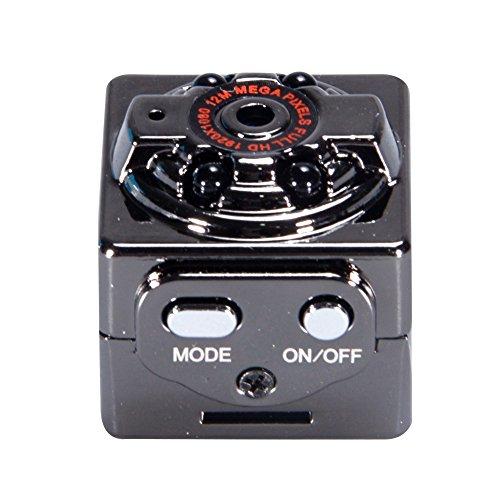 Beeslover Mini HD 1080P DV cámara con visión nocturna infrarroja, detección de movimiento, grabadora de vídeo de voz para interior/exterior deporte vigilancia en el hogar