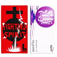サガミ バリュー 2000 12個入 + FIGHTING SPIRIT (ファイティングスピリット) コンドーム Lサイズ 12個入