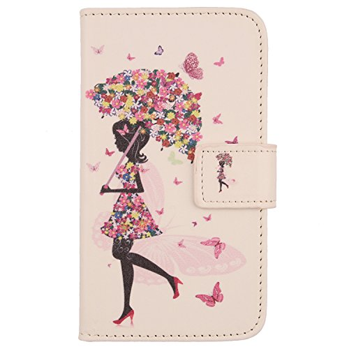 Lankashi PU Flip Leder Tasche Hülle Hülle Cover Schutz Handy Etui Skin Für Huawei Honor 5C Honor 7 Lite Umbrella Girl Design