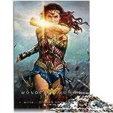 KKASD Puzzle Adulto 1000 Piezas Wonder Woman Rompecabezas de 1000 Piezas Movie Poster Juguete de Rompecabezas de desafío Cerebral de Arte de Rompecabezas de lógica (52x38cm)