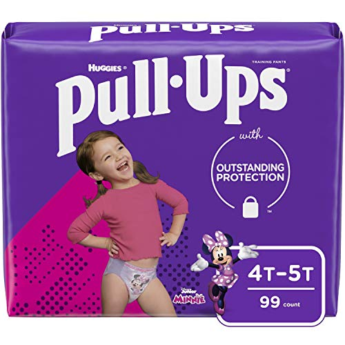 Pull-Ups Girls' Potty Training Pants Training Underwear, Multi-colored 4T-5T (99 Count)