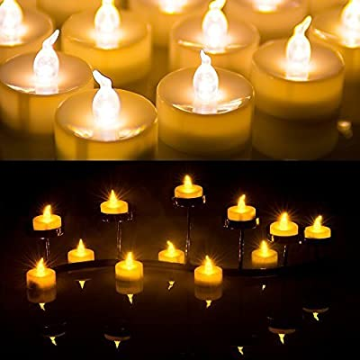 AGPtek 100pcs Battery Operated LED Flameless Tea Light Candle Light for Wedding Xmas Party Decoration