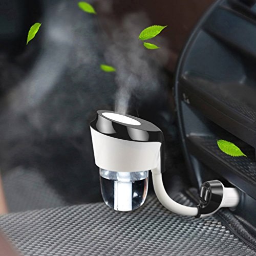 Vyaime Car Diffuser Humidifier, Essential Oil Aromatherapy Diffusers, Ultrasonic Cool Mist Humidifier for Vehicle Automobile(Black)
