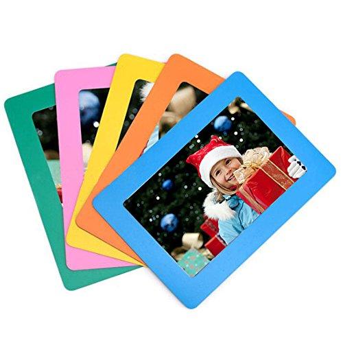 SFTlite [5 Pack] Magnetische Bilderrahmen Kühlschrank Standard 4 x 6 Zoll Postkarte Größe Magnetic Fridge für Kühlschrank Standard Polaframes Photo Frames Größe Magnetische Foto Tasche