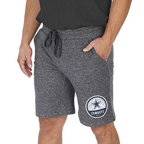 Zubaz NFL Dallas Cowboys Mens Sweat Short, Light Heather Gray, XX-Large