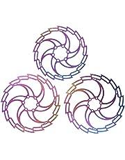Pwshymi Bromsskivskivor bländande ihåliga skivbroms ultralätta färgglada skivskivor för cykling