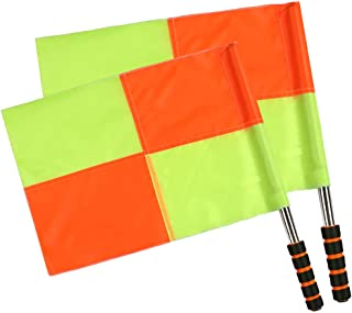 Shinestone Soccer Referee Flag Sports Match Football Linesman Flags with Case Referee Equipment-2 Designs