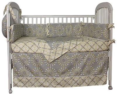 Hoohobbers Burst Sterling 4 Piece Crib Bedding Set from Hoohobbers