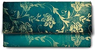 ShopMantra Ornamental Flower Art Multicolored Faux Leather Men's Wallet (LW00000163)